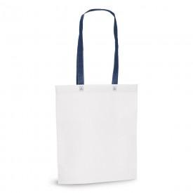 Чанта от нетъкан текстил с цветни дръжки