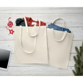 Рекламна памучна торбичка с дълги дръжки