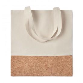 Рекламна памучна чанта с корк елементи