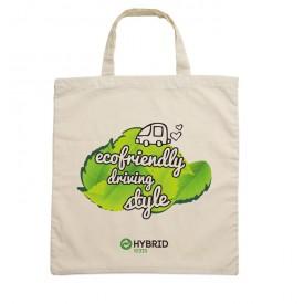 Рекламна памучна чанта с къси дръжки