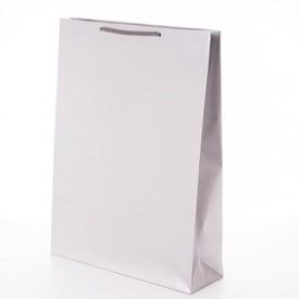 Гланцирана подаръчна чанта бяла