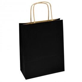 Рекламна хартиена торбичка - черна