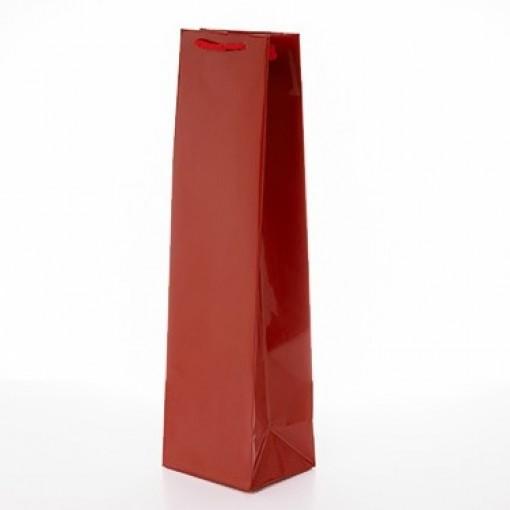 Луксозна чанта за вино червена