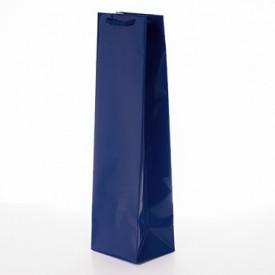 Луксозна торбичка за вино синя