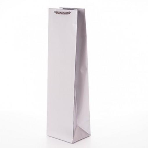 Луксозна торбичка за вино бяла